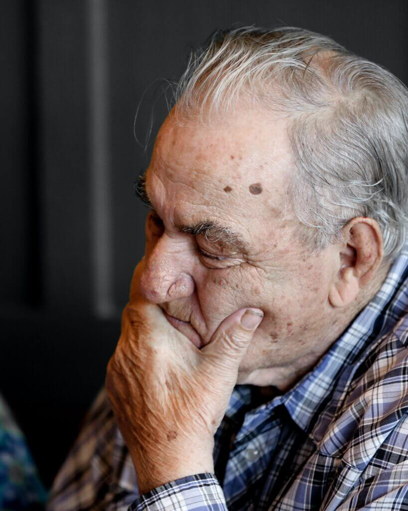 As seniors age they start to show signs of dementia such as repetition.